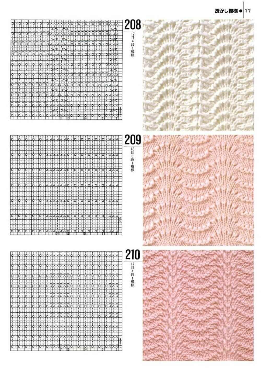 Комбинация узоров для вязания спицами
