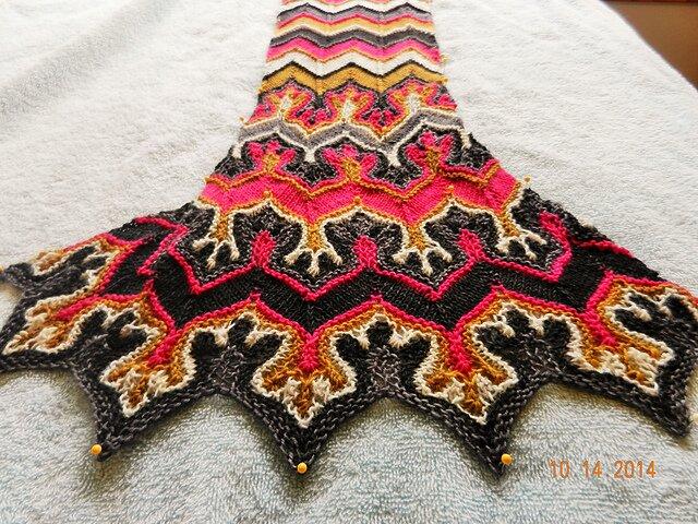 Вязание узора лисьи лапки