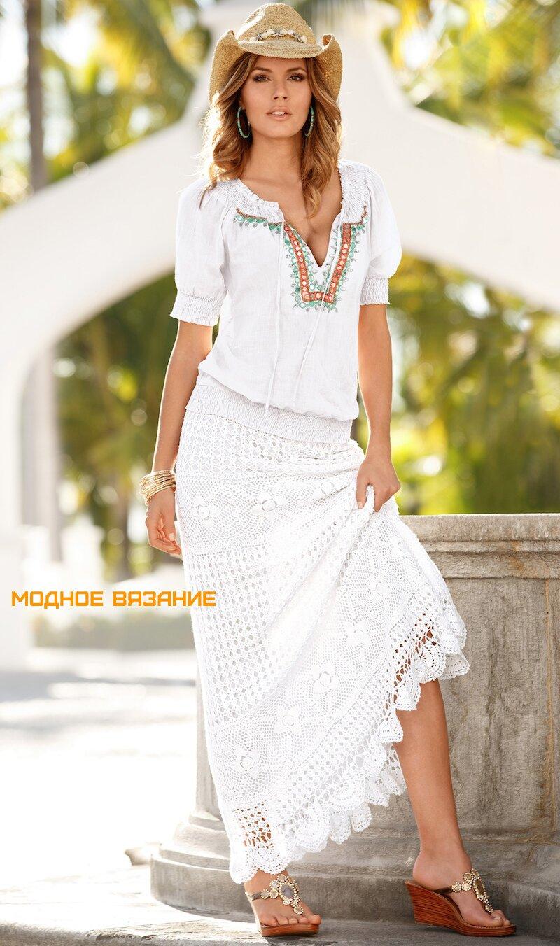 Шикарная юбка крючком в стиле «бохо»
