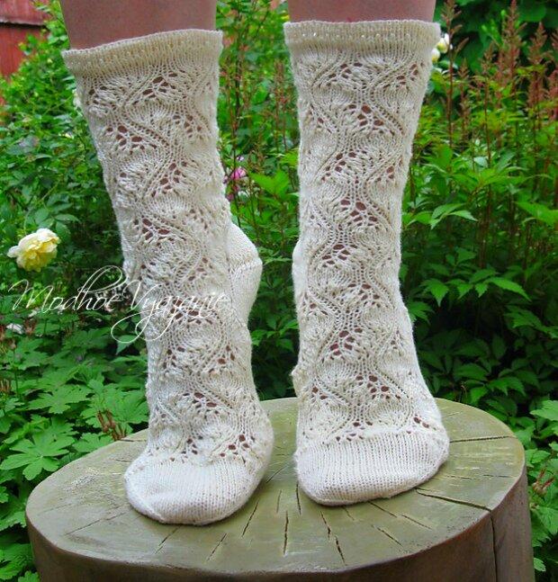 вязание спицами для женщин ажурные носки