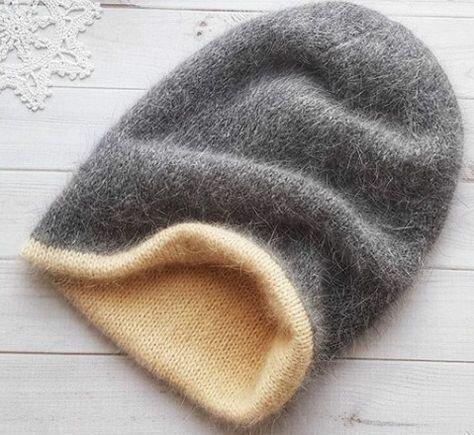 как связать спицами двойную шапку Modnoe Vyazanie Rucom