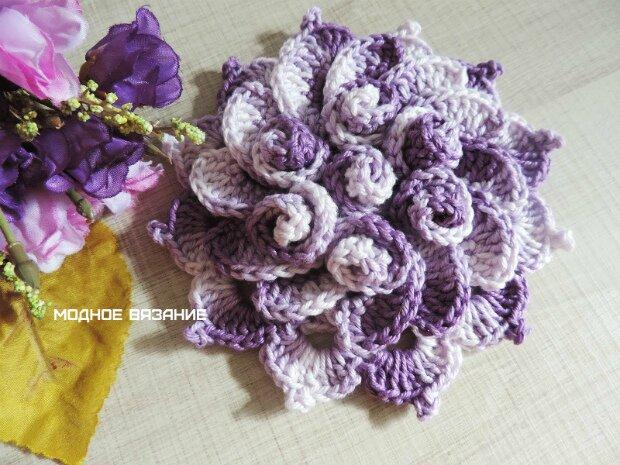 """钩针教程:""""环绕的花朵""""(大师班) - maomao - 我随心动"""