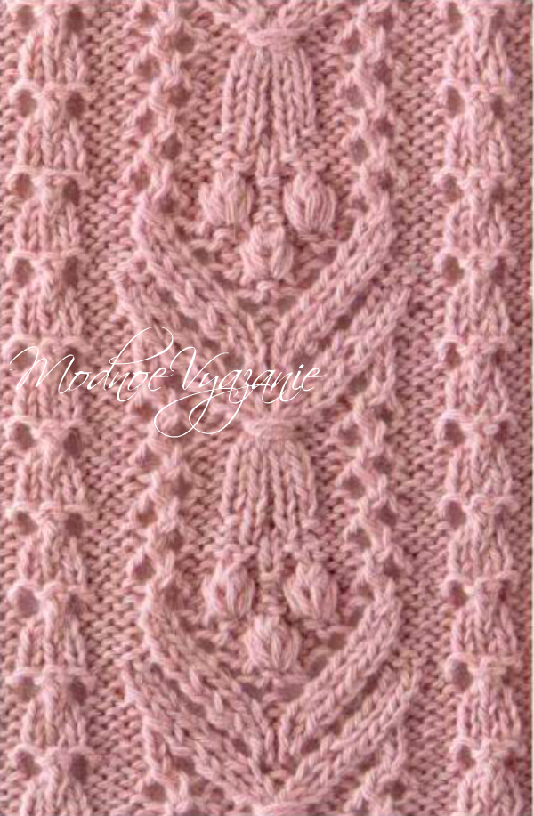 японские ажурные схемы вязания спицами