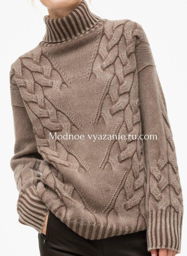 свитер с диагональными косами Susan от Iris Von Arnim Modnoe
