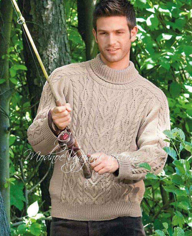 Чоловічий светр з ірландськими візерунками 6aca718d16af8