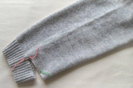 как обрезать или укоротить вязаное изделие Modnoe Vyazanie Rucom